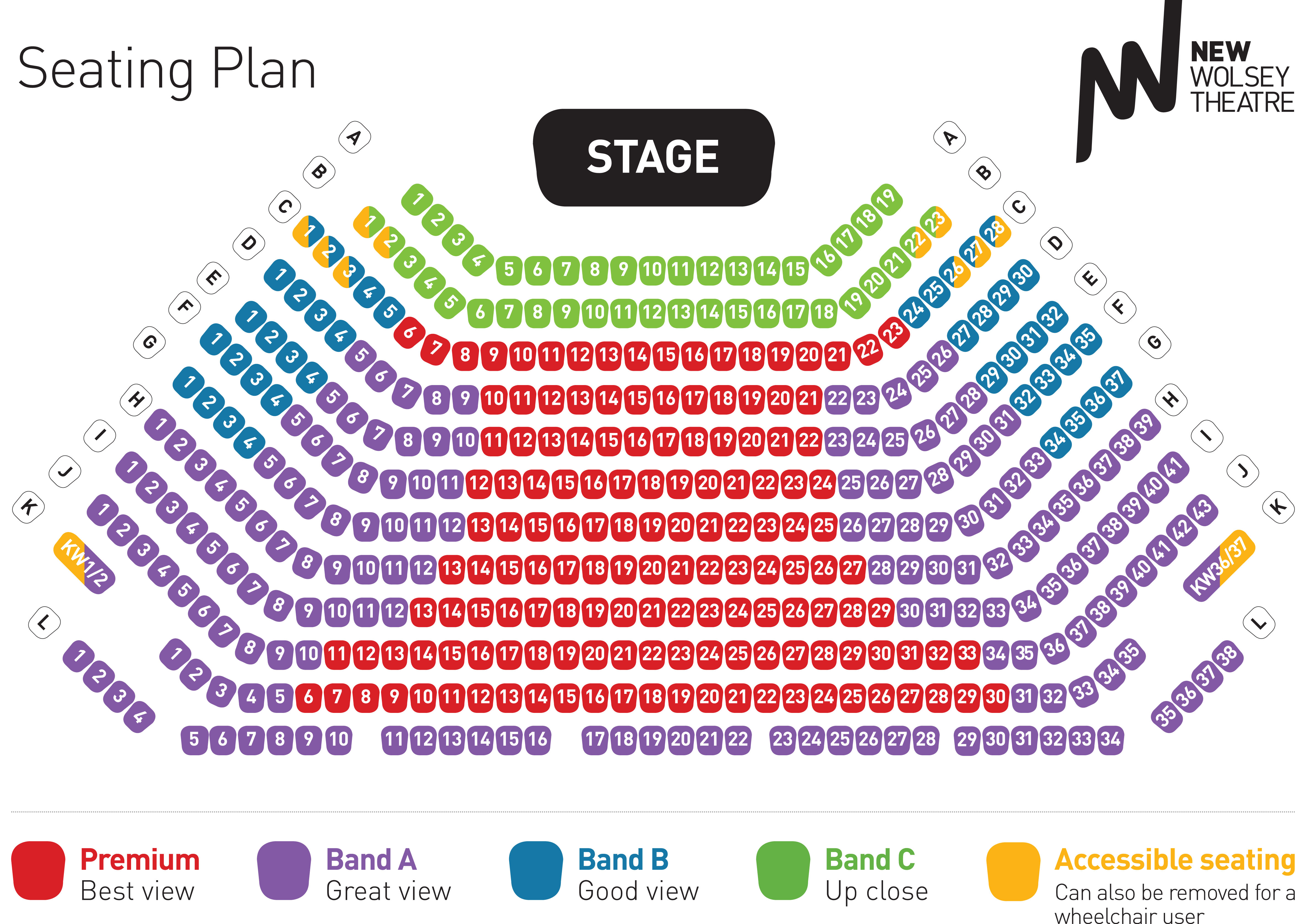 Seating Amp Price Bands The New Wolsey Theatre Ipswich
