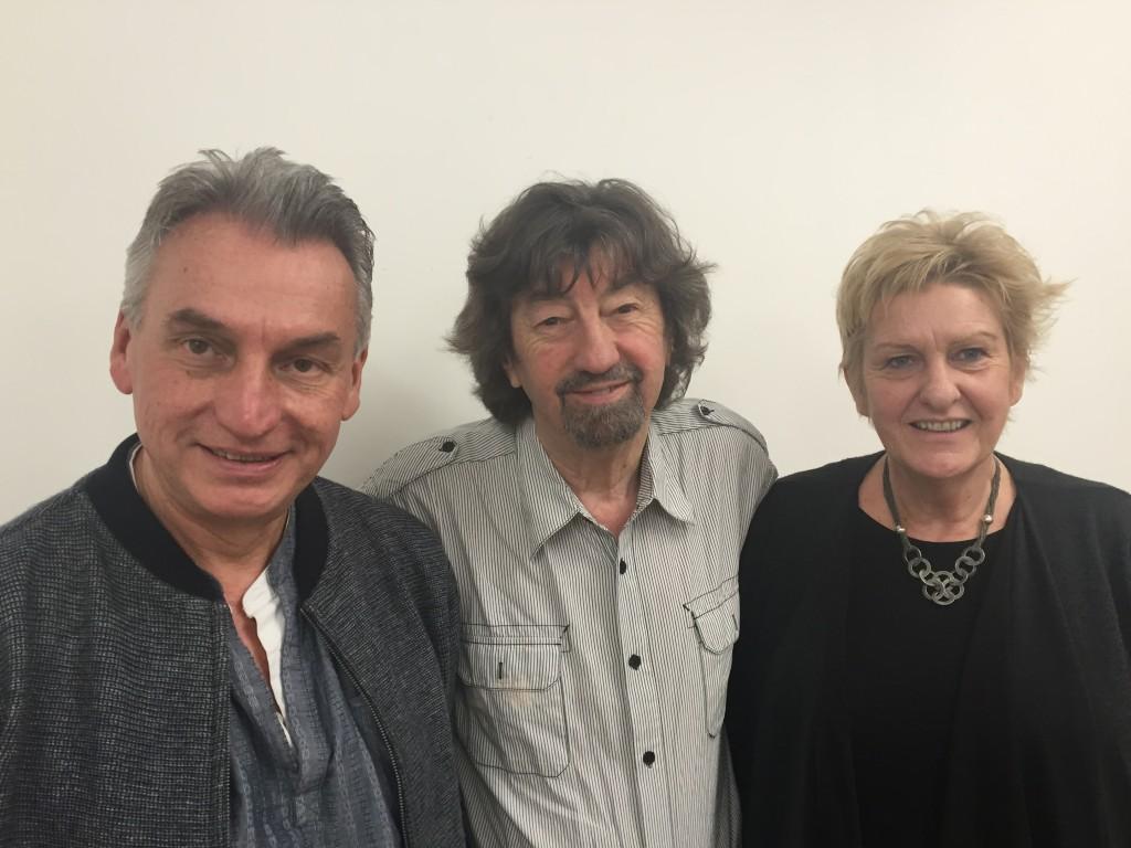 Peter Rowe (Artistic Director), Sir Trevor Nunn and Sarah Holmes (Chief Executive)
